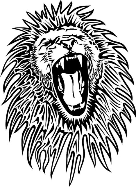 roaring angry lion face car decal sticker ebay