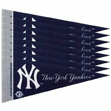 "New York Yankees 4"" x 9"" Mini Pennant Banner Flag Fan Cave Decor 8 Pack Set MLB"