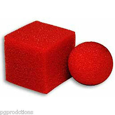 "Goshman Red Reg 1//2/"" Mini Brand New Magic Trick Sponge Balls 8 per"