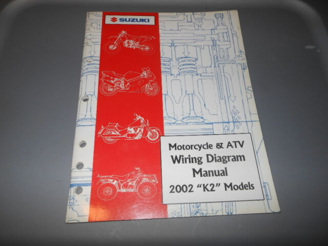 Factory Oem Suzuki 2002 K2 Motorcycle Atv Wiring Diagram