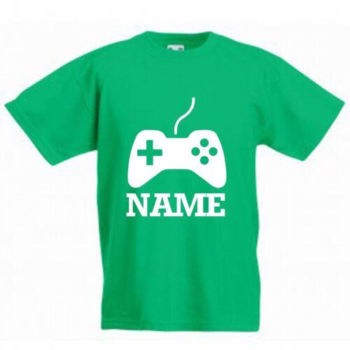 Gamer X-BOX PS4 T-shirt avec nom * Nouveau Personnalisé Garçons Filles Enfants Jeux