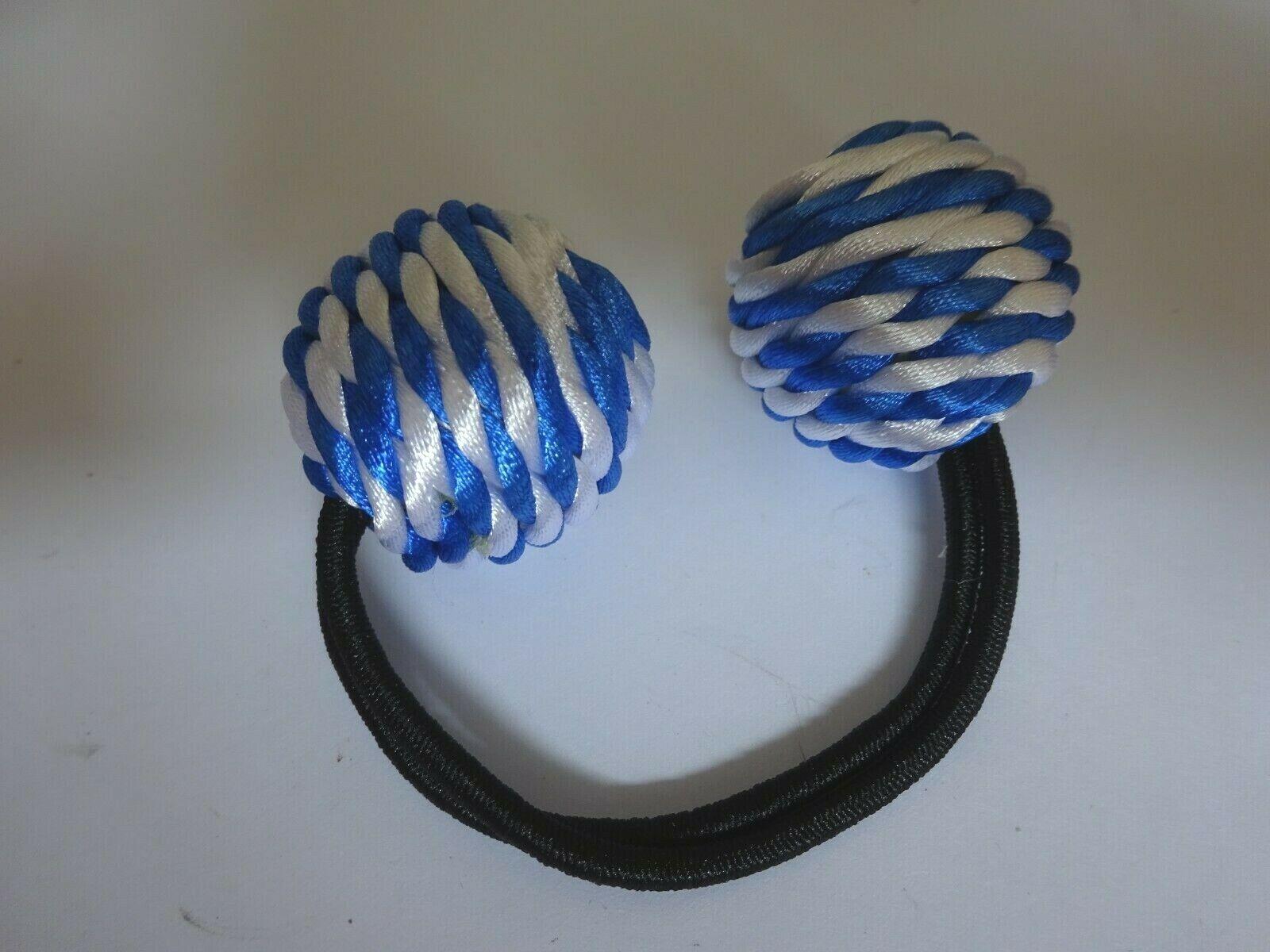 Zopfhalter Gummi schwarz Kugel blau weiß 3 cm Zenner