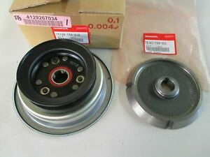 Honda-Lawn-Tractor-H4514-PTO-Clutch-pulley-Genuine-75106-758-013-amp-75141-758-003