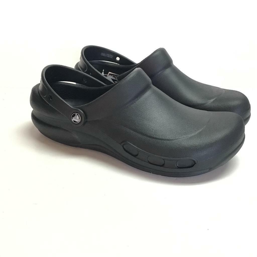 Crocs Mens 12 Womens 13.5 Specialist Clogs Shoes Black Rubber Slip On NEW