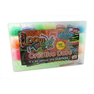 Loom-Twister-Creative-Case-2000-500-Free-Bands-Hook-Tool-S-Clips-Charms-NEW