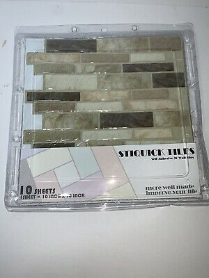 10 X 10 10 Sheets, Marble Cube Black 10 Sheets for Kitchen Decorative Tiles STIQUICK TILES Peel and Stick Backsplash