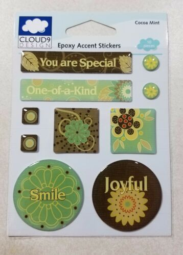 Cocoa Mint Epoxy Accent Stickers Fiskars Cloud Nine
