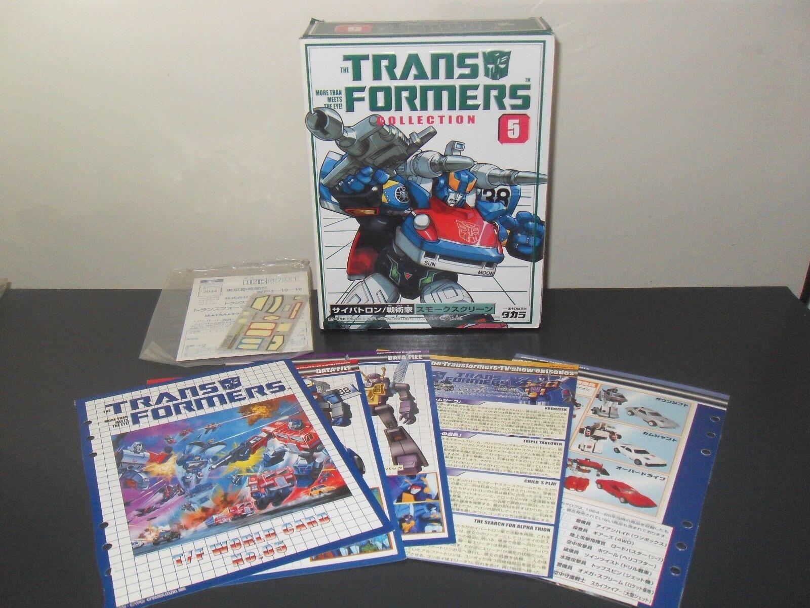 Transformers g1 réédition Takara collection 5 écran De fumée Comme neuf