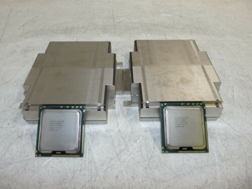 Matching Pair Intel Xeon E5530 SLBF7 2.4GHz QC CPU Heatsinks for PowerEdge R610