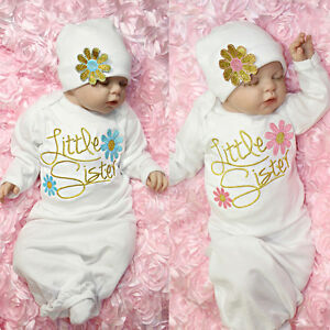 Newborn Baby Girl Take Home outfit Embroidery Christmas Gift Set ...