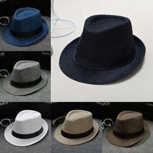 Useful-Foldable-Travel-Straw-Fedora-Sun-Hat-Panama-Trilby-Crushable-For-Unisex