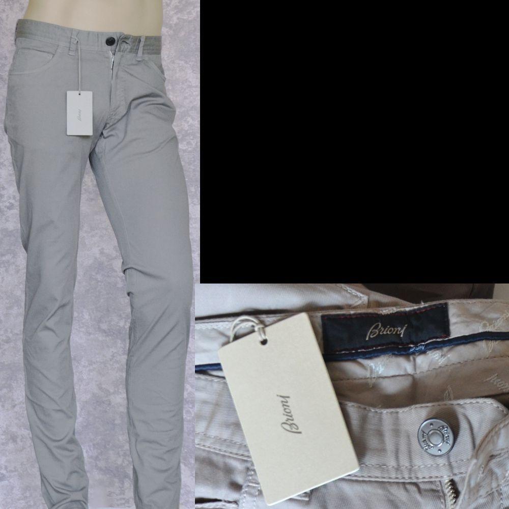 Brioni Nuevo Pantalones Fit como  un logotipo de hombre talla 30 Auténtico Diseñador Jeans Arena  salida para la venta