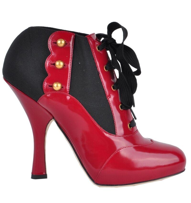 Dolce & Gabbana baroque runway baroque Gabbana Bottines Escarpins rouge baroque boots Rouge  02959 e19857