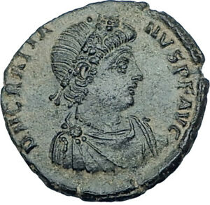 GRATIAN-Original-378AD-Antioch-Authentic-Ancient-Roman-Coin-Rome-as-Roma-i65918