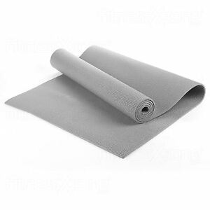 Yoga-Matte-EXTRA-Dicke-6mm-173-x-61-cm-Anti-Rutsch-Ubung-Fitnessraum-Camping-Picknick-grau