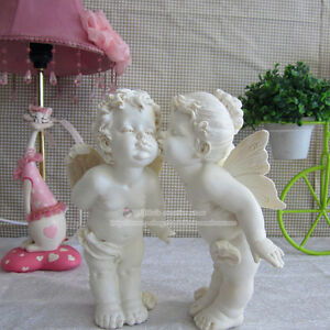One Set Cute Cupid Angel Statues Ornaments Resin Crafts, Beautiful Home Decor