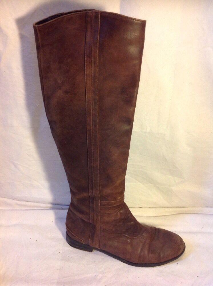 Country Road Brown Knee High Leather Boots Size 37