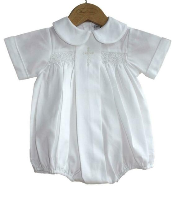 Sweet Dreams Baby Girls Christening Baptism Bubble Set Outfit Pleated Pink Cross