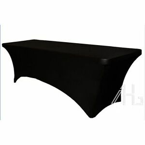 Spandex lycra fitted tablecloth 6ft 6 foot rectangular for 10 ft table cloth