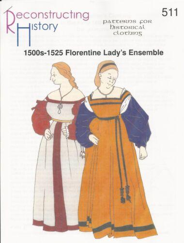 Schnittmuster RH 511 1500-1520s Florentine Gamurra