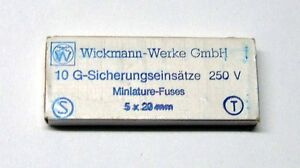 10-x-Wickmann-Feinsicherung-5x20mm-1-6A-traege