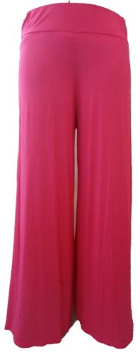 NEW PURPLE PALAZZO TROUSERS FLARED PANTS 16 COLOURS8-16