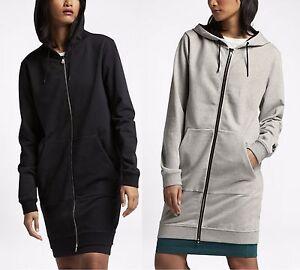 350349e02 Image is loading NikeLab-Essentials-Fleece-Long-Full-Zip-Women-039-