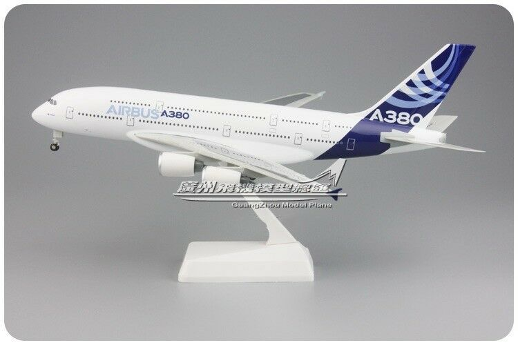 1 250 30CM AIRBUS A380 Passenger Airplane ABS Plastic Assembled Aircraft Model
