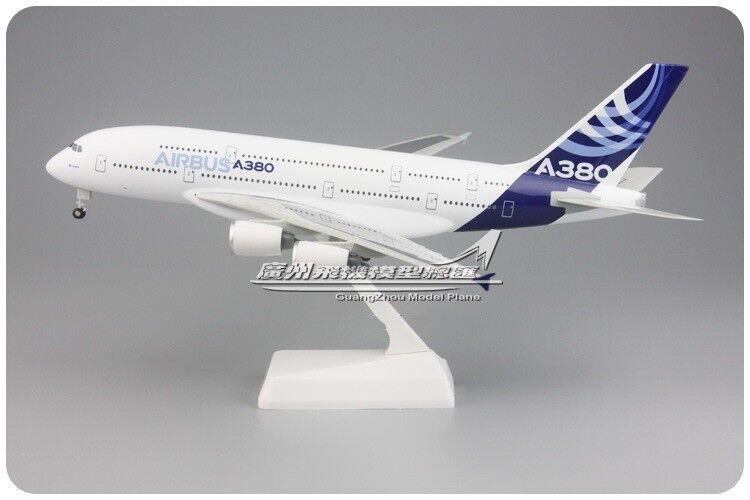 1 250 30CM AIRbuss A380 Passagerarplan ABS Plastic Assemblemed flygagagplan modelllllerler