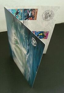 [SJ] United Nations Ocean 1992 Whale Sea Dogs Marine Coral Fish (folder)