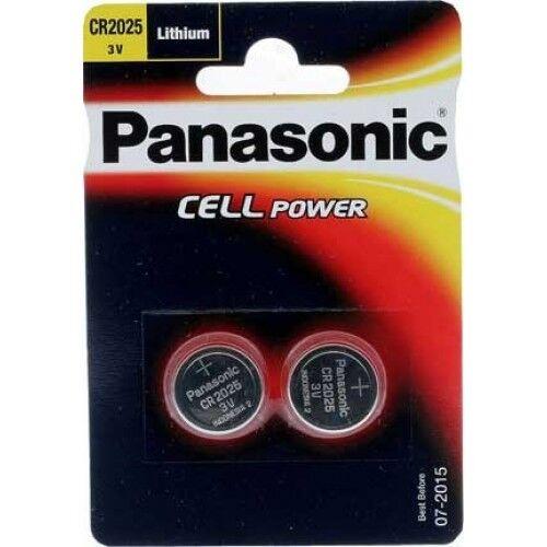 Panasonic CR2025/DL2025 3V Batería Litio Pack de 2