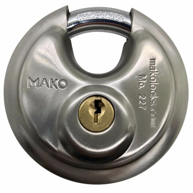 Abus 83/50 Padlock W/ Medeco Biaxial Cyl., 2 Keys, And