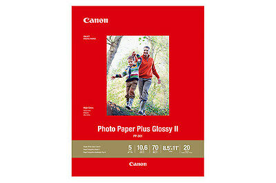 """Brillante Canon Photo Paper Plus Glossy Ii 5"""" X 7"""" - 20 Sheets - New & Sealed In Package"""