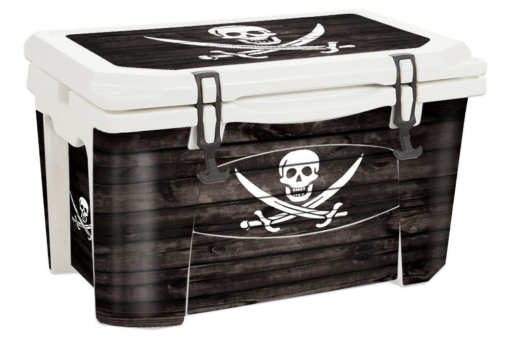 USATuff Custom Cooler Wrap Decal fits Grizzly 75qt FULL Pirate Flag Flag Pirate WD a79e11