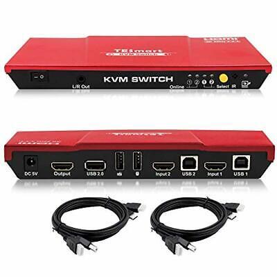 Vendita Professionale 2 Volte Kvm Hdmi Switch 4k Ultra Hd Con 3840 X 2160 A 60 Hz 4:4:42-