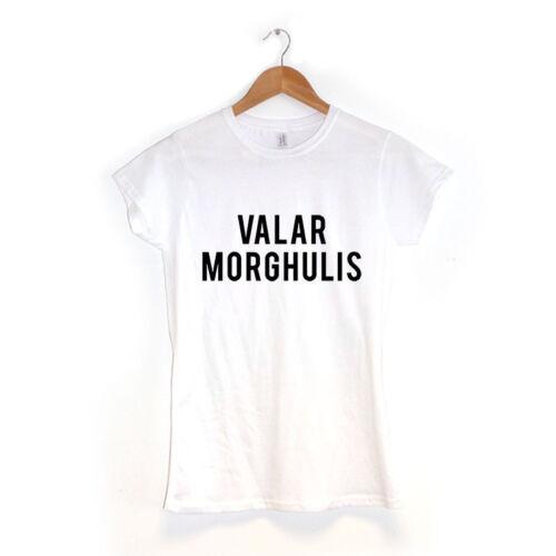 Valar Morghulisfemme t shirtbeaucoup de couleursjeu Nerd Geek de trônes