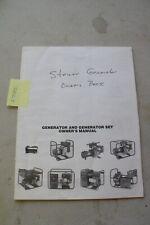 Steiner Generator Set Operators And Parts Manual