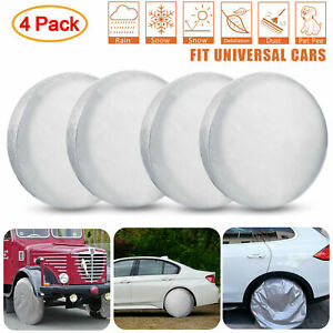 Set Of 4 Wheel Tire Covers For Rv Trailer Camper Car Truck And Motor Home 27 29 Ebay