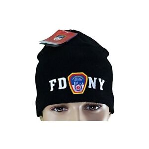 1faddb29af6 FDNY No Fold Winter Hat Beanie Skull Cap Officially Licensed Black ...