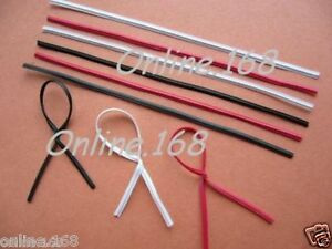 Plastic-Coated-Wire-Twist-Ties-3-034-1000pcs-Black-White-Red-Golden-FREE-P-amp-P