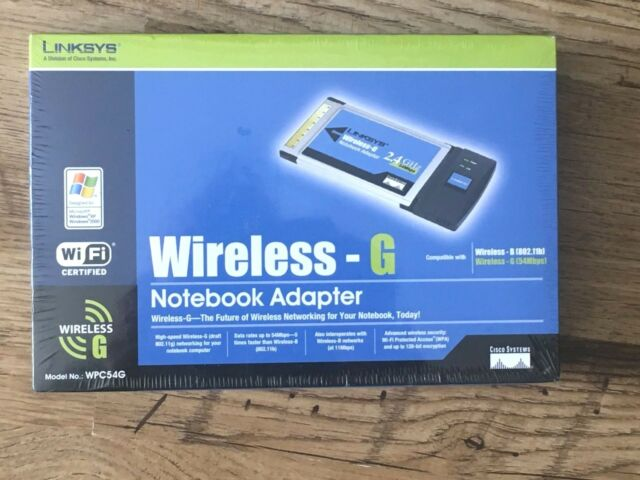 LINKSYS WPC54G VERSION 1.2 WINDOWS XP DRIVER