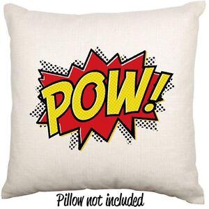 Comic-Book-POW-Geek-Pop-Art-Decorative-Linen-Blend-Throw-Cushion-Cover-Case