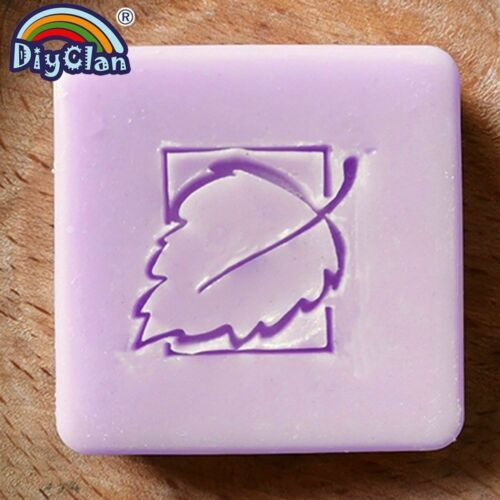 Handmade Leaf Resins Soap Stamp Customized Cute DIY Printed Heart Pattern Crafts