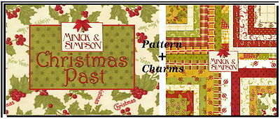 Christmas Past Quilt Pattern Rare Charm Pack By Minick Simpson Moda Fabric Ebay