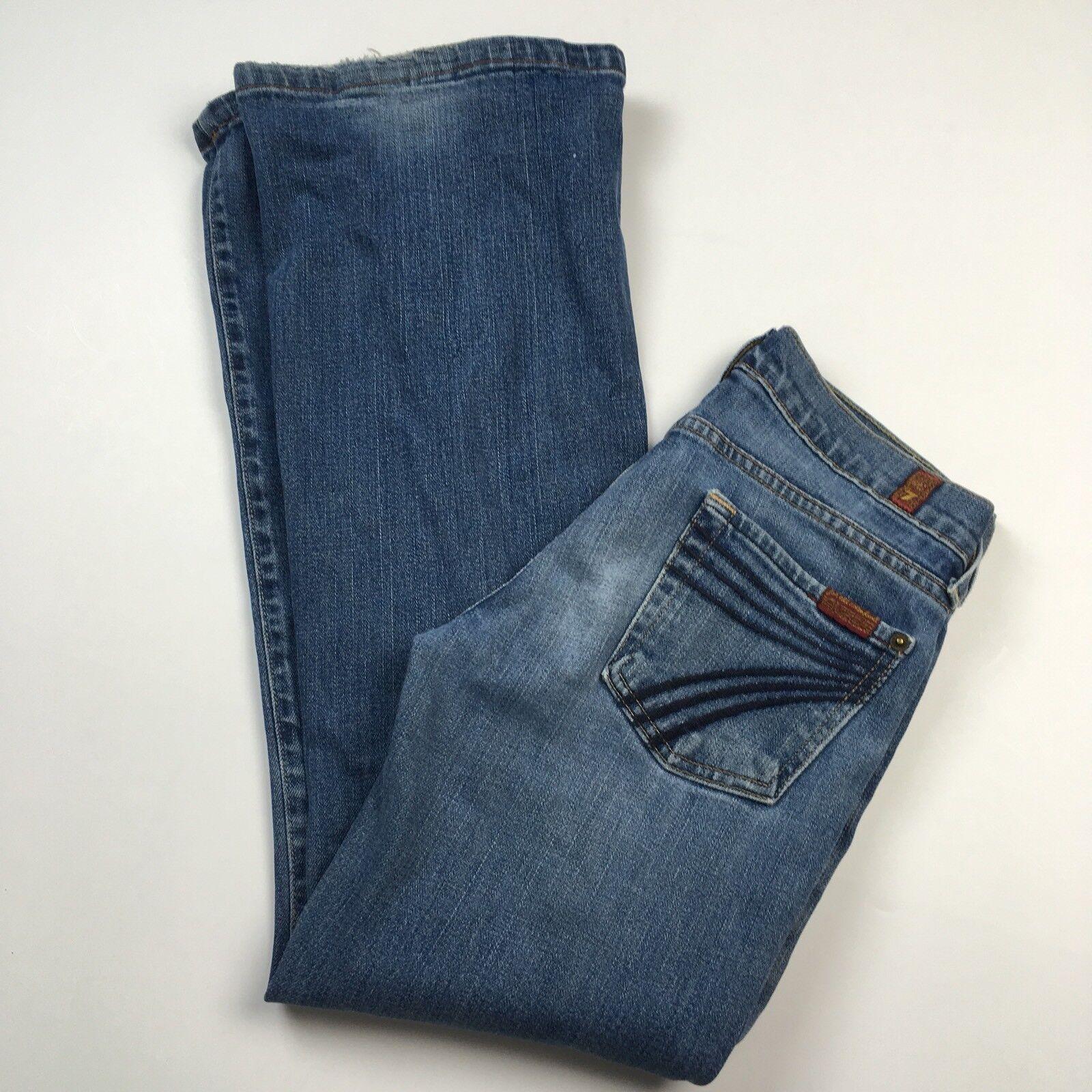 7 For All Mankind DOJO Flare Medium Wash Stretch Jean Size 25