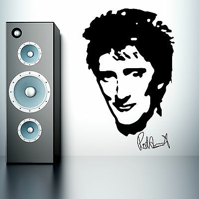 ROD STEWART music Vinyl Wall art sticker mural decal portrait
