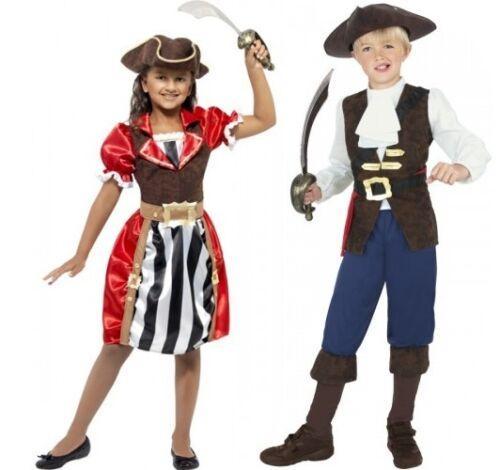 RAGAZZI Ragazze Bambini Pirata Capitano Party Dress Up Costume Vestito 4-12yrs