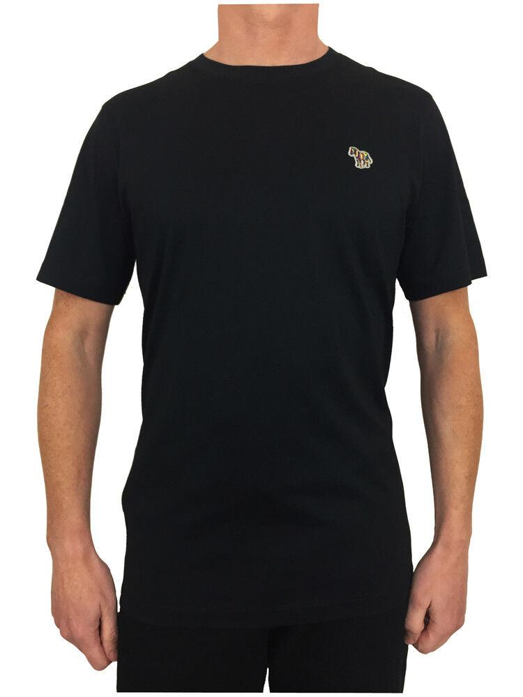 Paul Smith Zebramuster Orden T-Shirt Schwarz