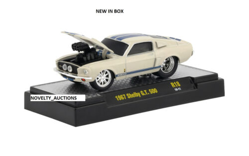 Details about  /L145 82161 18 M2 MACHINES GROUND POUNDERS 1967 SHELBY G.T 500 WHITE ford mustang