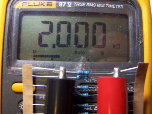 20 Pcs. 2K Ω Ohm Metal Film Resistor